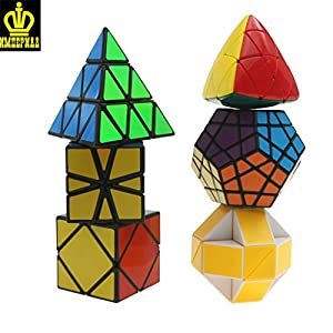 MINI-J Magic Cube Puzzle Bundle Pack 5x5x5, 4x4x4,3x3x3 and 2x2x2 Magic Cube Set, Speed Cube Collection Toys for Children
