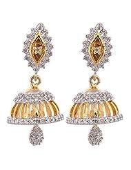 Daindiashop Alloy Metal Yellow Earrings For Women - B00PQMELPC