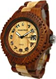 Tense Sandalwood & Maple Wood Watch Mens Roman G4100SM ANLF