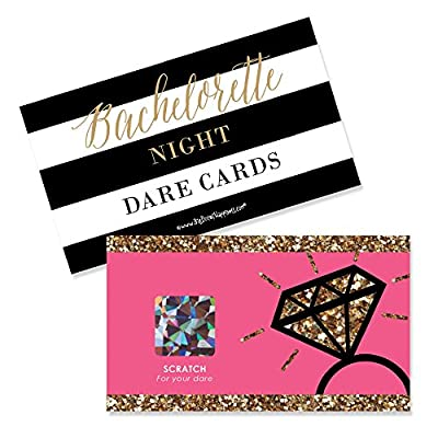 Girls Night Out - Bachelorette Party Game Scratch Off Cards - 22 Count from Big Dot of Happiness