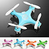 "KiiToys® Quadcopter Drone RC Helicopter Quad Copter Toy - Micro Mini Nano Size - 3D Flip Air Light Show - 6 Axis Gyro - 4 Channels Radio Control - 2.4 ghz 100 ft range - ""Smallest QuadCopter in the world"" with KiiToys Warranty + Tech Support (Color: Orange, Green, Blue, White,Pink)"
