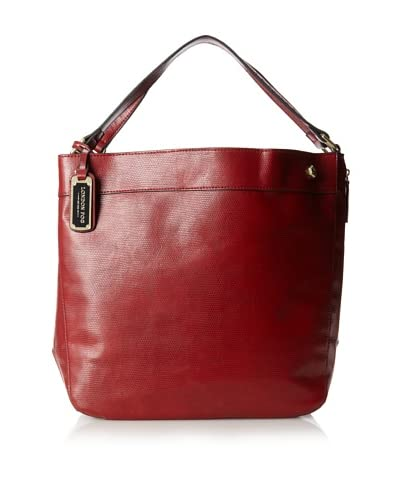 London Fog Women's Parker Hobo, Rouge Lizard As You See