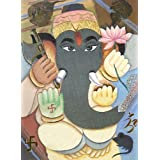 "Dolls Of India ""Gajanan"" Reprint On Paper - Unframed (27.94 X 20.32 Centimeters)"