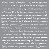 Deco Art Americana Decor Stencil, Old French Script