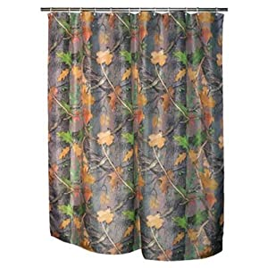 Rivers Edge Products Realtree Camo Shower Curtain - Camouflage gifts