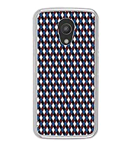 ifasho Designer Phone Back Case Cover Motorola Moto G2 :: Motorola Moto G (2nd Gen) ( Flower Design Blue Pink combination )
