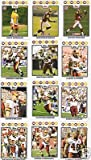 2008 Topps Washington Redskins Complete Team Set of 14 cards including Clinton Portis, Colt Brennan rookie and more