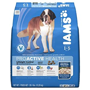Iams Proactive Health Adult Weight Control Large Breed Premium Dog Nutrition, 29.1 Pound