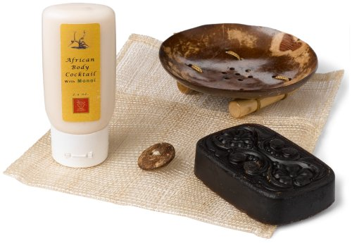 African Red Tea Body Cocktail Kit, Includes Body Cocktail/Manoi and Beauty Bar Soap