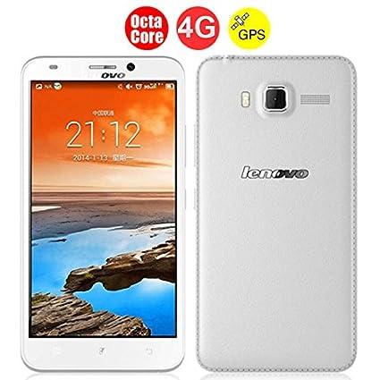 Lenovo A916 Octa base 4G LTE Smartphone w / MTK6592 5,5 pouces écran HD 1 Go + 8 Go Android 4.4 GPS - Blanc