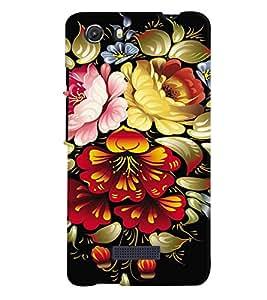 printtech Flower Back Case Cover for Micromax Q372 Unite 3