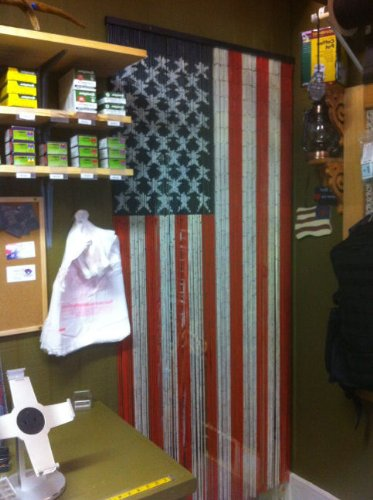 American Flag Beaded Curtain 125 Strands Hanging