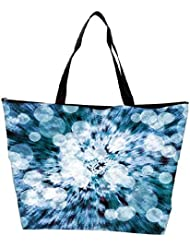 Snoogg Blue Flower Abstract Background Waterproof Bag Made Of High Strength Nylon