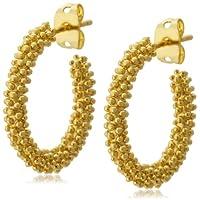 [フル オブ グレイス] FULL OF GRACE ゴールド粒フープピアス E044 Earrings