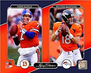 Peyton Manning John Elway Denver Broncos NFL Legacy Photo 20x24 by NFL