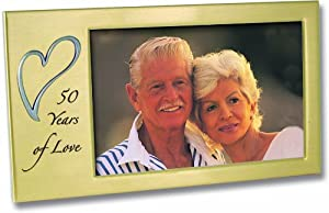 50 Years of Love Golden Wedding Anniversary Photo Frame Gift Cathedral Art W321