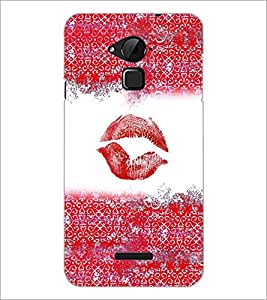 PrintDhaba Lips Impression D-4037 Back Case Cover for COOLPAD NOTE 3 LITE (Multi-Coloured)