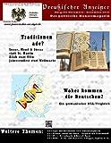 img - for Preussischer Anzeiger: Das politische Monatsmagazin - Ausgabe November / Dezember (German Edition) book / textbook / text book