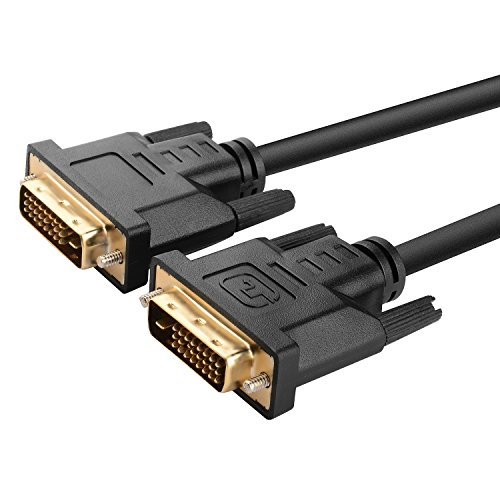 Insten POTHDVIX6F01 Gold-Plated DVI-D Digital Dual Link Cable 9.9Gbps 24 Plus 1 Pin 6-Feet, Black (Dvi Split Cable compare prices)