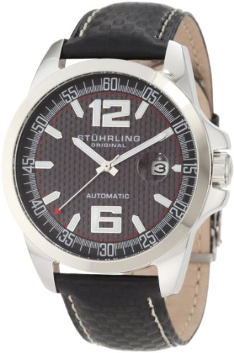 Stuhrling Original Men's 175.33151 Sportsman Concorso Automatic Date Black Watch