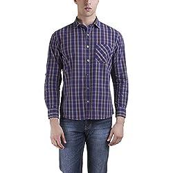 Kingswood Men Cotton Casual Shirt (KWSCF0085_BrownBrown38_Brown_38)