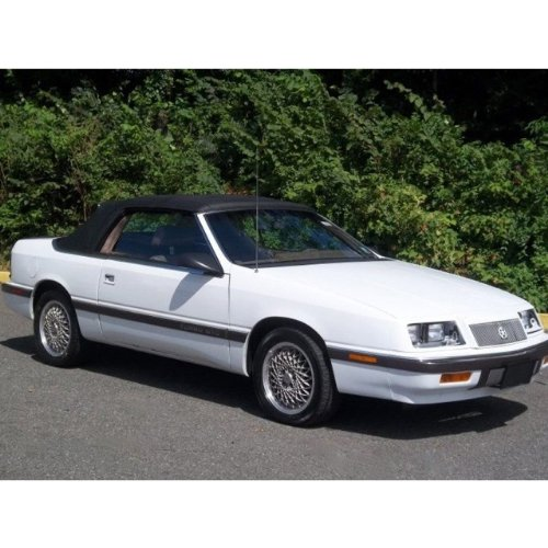 Lebaron 1987-1995 Convertible Top Front and Plastic Window in Black Pinpoint Vinyl (1995 Convertible Top compare prices)