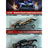 Hot Wheels Real Riders Authentic Decos Extreme Detail Diecast Dragster Cuda Snake - Corvette Mongoose 1:64 Scale Collector