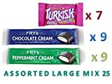 Fry's ASSORTED LARGE MIX 25 9 x CHOCOLATE Cream 9 x PEPPERMINT Cream 7 x TURKISH DELIGHT