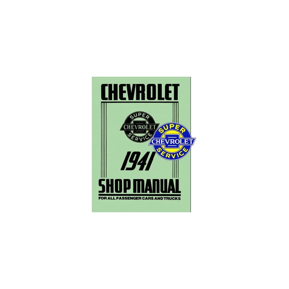 Car Truck Shop Service Repair Manual 41 with Decal Chevrolet Books
