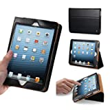 Acase iPad Mini Genuine Leather Case / Cover (Apple iPad Mini 7.9 inch Tablet) with Built-in Stand - Support Smart Cover Function for Mini iPad