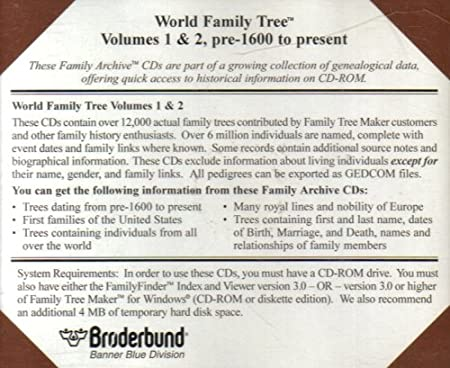 Family Tree Maker : Volumes 1 & 2, Pre-1600 to Present (2 Discs) / Social Security Death Index: United States 1937-1995 (2 Discs)