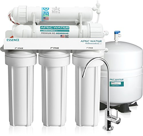 APEC Water Systems ROES-UV75 75 GPD UV Disinfecting 6-Stage Reverse Osmosis Drinking Water Filter System (Apec Reverse Osmosis compare prices)