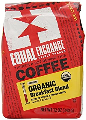 Equal Exchange Organic Coffee, Breakfast Blend, Ground, 12-Ounce Bag from Equal Exchange