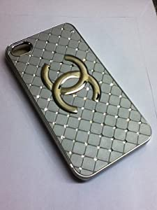 Brand New White Chanel Fashion Case Silver LOGO * Apple iPhone 4 4G by Phone Buddy