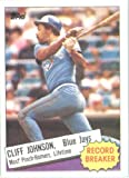 1985 Topps Baseball Card # 4 Cliff Johnson Toronto Blue Jays Mint Condition- Shipped