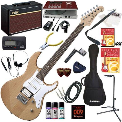YAMAHA エレキギター 初心者 入門 人気のパシフィカ ギターの練習が楽しくなるCDトレーナー(エフェクターも内蔵)と人気のギターアンプVOX Pathfinder10が入った強力21点セット PACIFICA112V/YNS(イエローナチュラルサテン)
