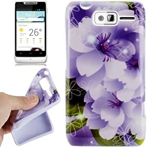 Orchid Pattern TPU Case for Motorola RAZR D1 / XT918