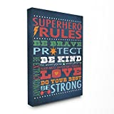 The Kids Room by Stupell Superhero Rules Canvas Art