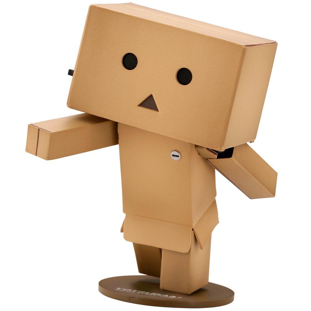 纸箱做的暑假工作机器人,手脚各个关节都可动,头的旁边的按钮眼睛会