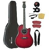 Ovation オベーション AX Series C2079AX-CCB エレアコ Bundle, Cherry Cherry Burst アコースティックギター アコギ ギター (並行輸入)