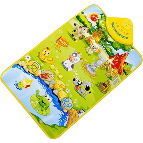 Mokingtop(TM) Fashion New Kids Baby Farm Animal Musical Music Touch Play Singing Gym Carpet Mat Toy Gift - 1