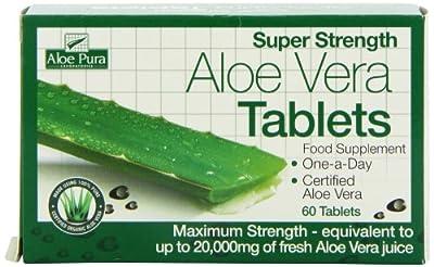 Optima Health Aloe Pura Super Strength Aloe Vera 60 Tablets from Optima Health