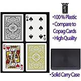 KEM Arrow Playing Cards: 2 Deck Set Black and Gold, Standard Index