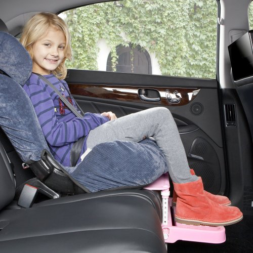 [KneeGuardKids2] Car Seat Footrest, Booster Seat Footrest (Pink) - 1