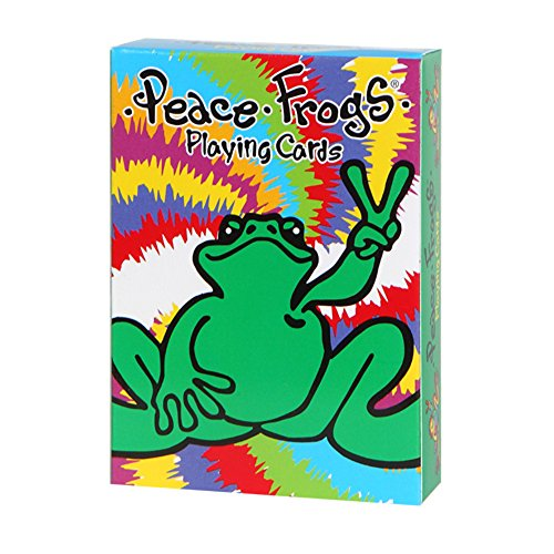 Peace Frogs Playing Cards, Multicolored