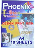 A4 Size Iron On T Shirt Transfer Paper FOR White or Light Colour Fabrics 10 Sheets