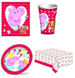 Peppa Pig 8 Place Settings party pack - 8 cups, 8 plates 12 x napkins & 1 Tablecloth