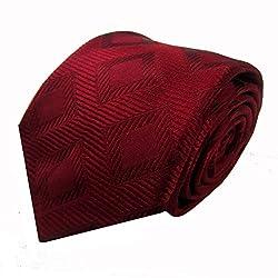 Rossini Men's Tie (UFAM24_Red_Free Size)