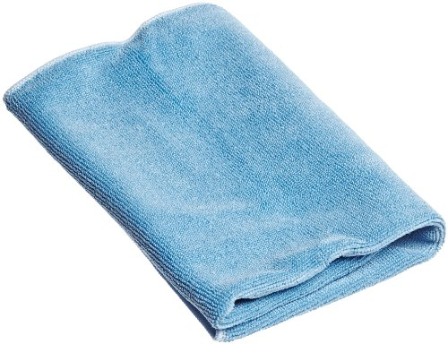 "Unger Mf40B Smartcolor Microwipe Heavy Duty Microfiber Cloth, 16"" Length X 15"" Width, Blue (Case Of 10) front-579751"