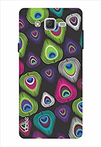 Noise Mor Pankh Black Printed Cover for Samsung Galaxy J7